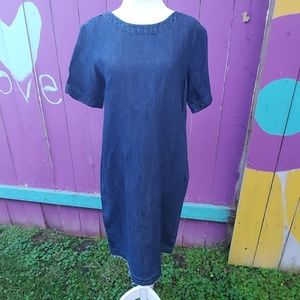 Denim sheath dress